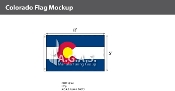 Colorado Flags 5x8 foot