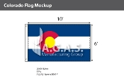 Colorado Flags 6x10 foot