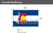 Colorado Flags 8x12 foot