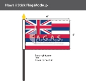 Hawaii Stick Flags 4x6 inch