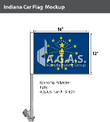 Indiana Car Flags 12x16 inch