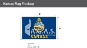 Kansas Flags 4x6 foot
