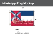 Mississippi Flags 12x18 inch