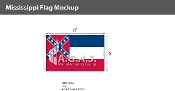 Mississippi Flags 5x8 foot