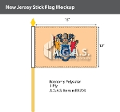 New Jersey Stick Flags 12x18 inch