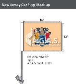 New Jersey Car Flags 12x16 inch