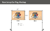 New Jersey Car Flags 10.5x15 inch