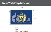 New York Flags 12x18 inch