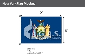 New York Flags 8x12 foot