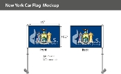 New York Car Flags 10.5x15 inch