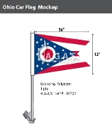 Ohio Car Flags 12x16 inch