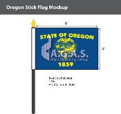 Oregon Stick Flags 4x6 inch