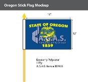 Oregon Stick Flags 12x18 inch