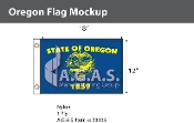 Oregon Flags 12x18 inch