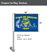 Oregon Car Flags 12x16 inch