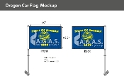 Oregon Car Flags 10.5x15 inch