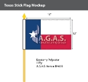 Texas Stick Flags 12x18 inch