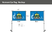 Vermont Car Flags 10.5x15 inch