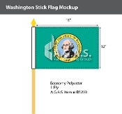 Washington Stick Flags 12x18 inch