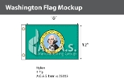 Washington Flags 12x18 inch