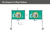 Washington Car Flags 10.5x15 inch