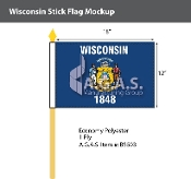 Wisconsin Stick Flags 12x18 inch