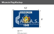 Wisconsin Flags 8x12 foot