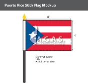 Puerto Rico Stick Flags 4x6 inch