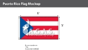 Puerto Rico Flags 3x5 foot