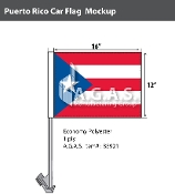 Puerto Rico Car Flags 12x16 inch