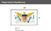 Virgin Islands Flags 6x10 foot