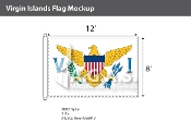 Virgin Islands Flags 8x12 foot