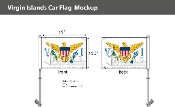 Virgin Islands Car Flags 10.5x15 inch