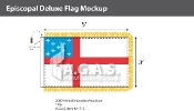 Episcopal Deluxe Flags 3x5 foot