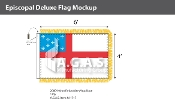 Episcopal Deluxe Flags 4x6 foot