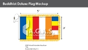 Buddhist Deluxe Flags 3x5 foot