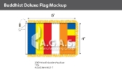 Buddhist Deluxe Flags 4x6 foot