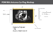 POW MIA Antenna Flags 4x6 inch (black & white)