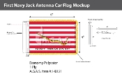 First Navy Jack Antenna Flags 4x6 inch