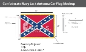 Confederate Navy Jack Antenna Flags 4x6 inch