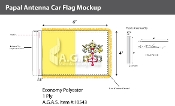 Papal Antenna Flags 4x6 inch