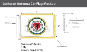 Lutheran Antenna Flags 4x6 inch