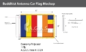 Buddhist Antenna Flags 4x6 inch