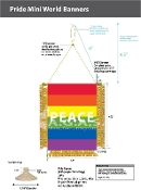 "Rainbow Peace Mini-Banner 3.5""X4.5"""