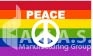 Peace with Sign Pride Flags